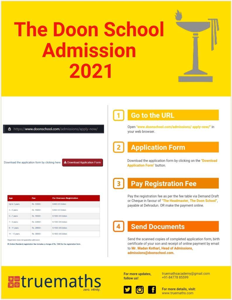 Doon School Admission form 2021