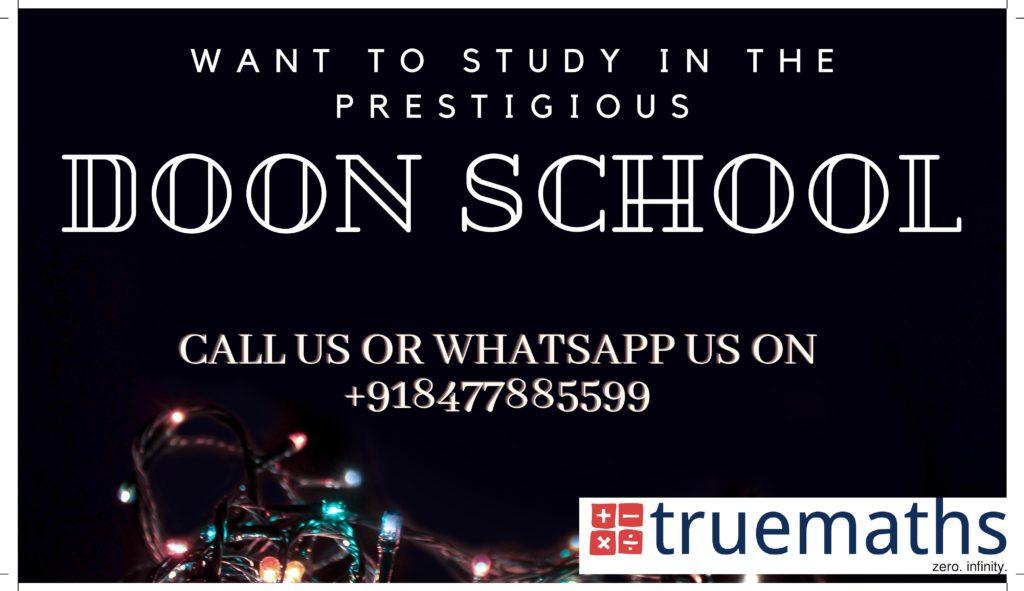 doon school admission