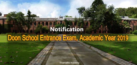doon school entrance exam