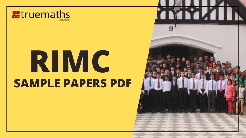 RIMC sample papers and RIMC mock test pdf