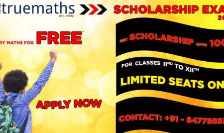 Get Upto 100% Scholarship, Education without Fee – Truemaths