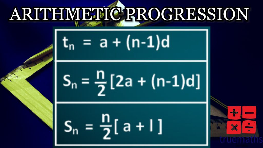 Arithmetic Progression Sum of Terms Formula