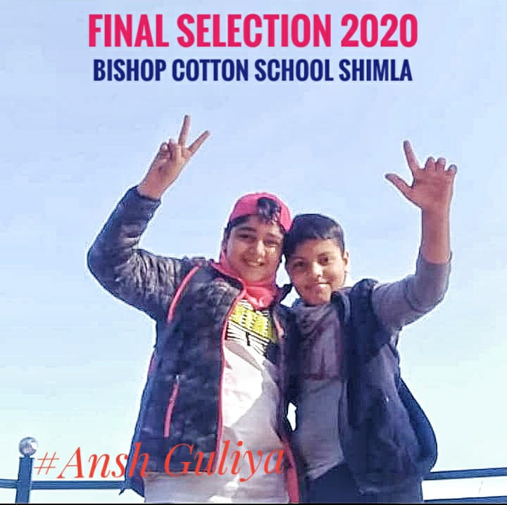 selected student in bishop cotton school shimla