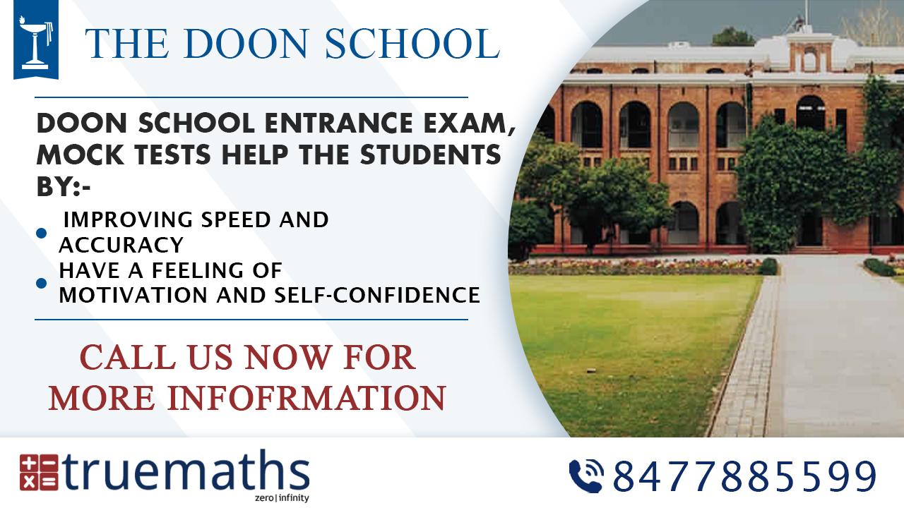 Doon School Entrance Exam Sample Papers