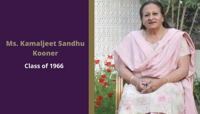Scindia Kanya Vidyalaya alumni Ms. Kamaljeet Sandhu Kooner