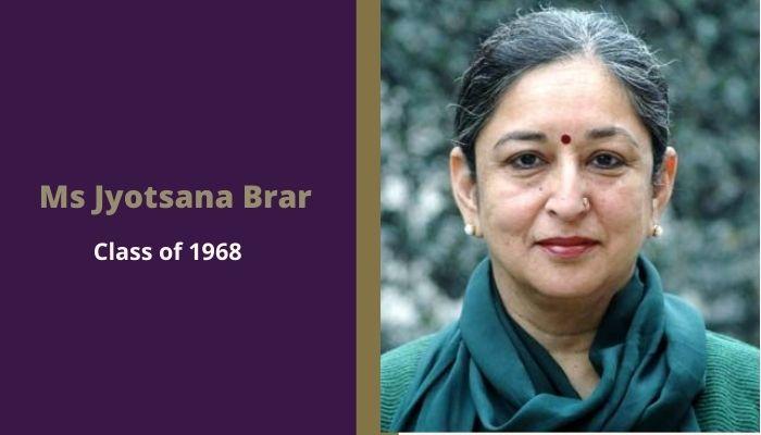 Scindia Kanya Vidyalaya alumni Ms Jyotsana Brar