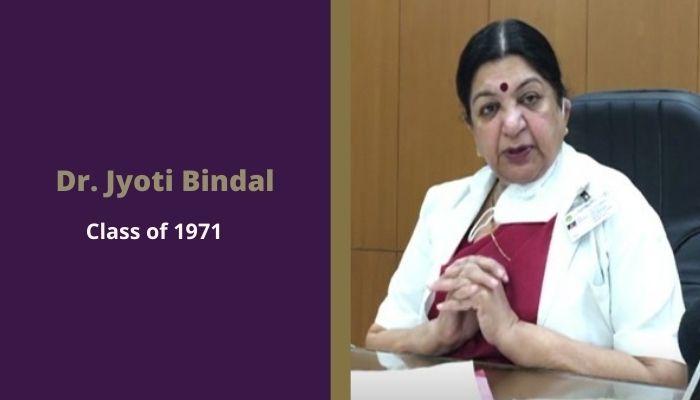 Scindia Kanya Vidyalaya alumni Dr. Jyoti Bindal