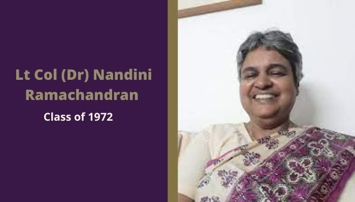 Lt Col (Dr) Nandini Ramachandran