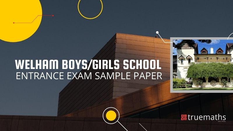 Welham Boys/Girls School Sample Paper